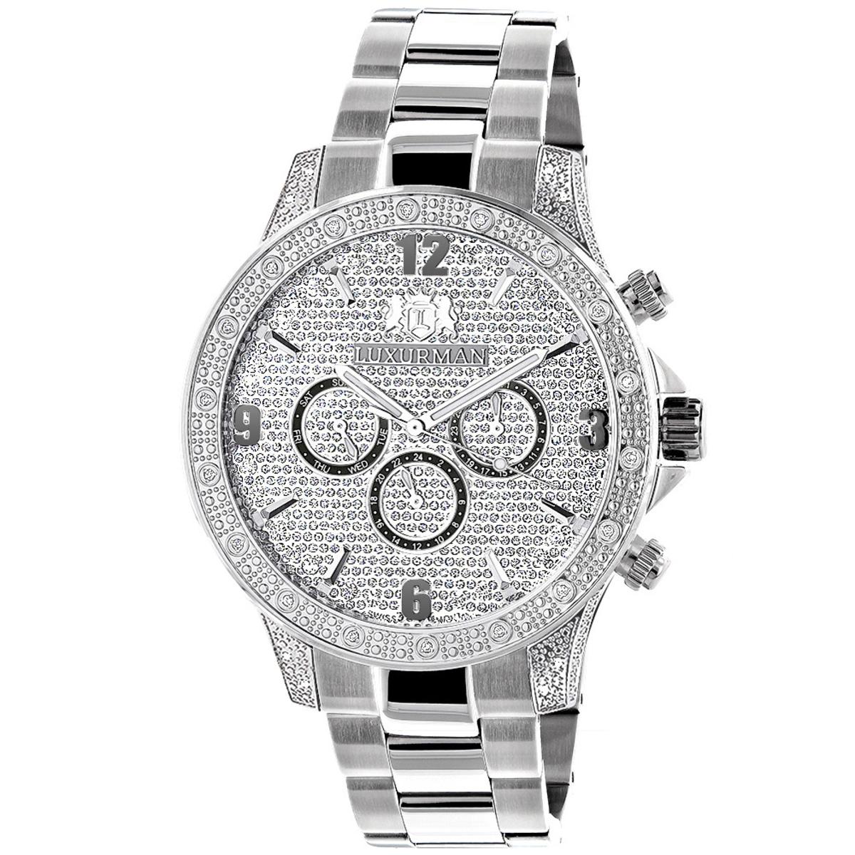 Celebrity Diamond Watch for Men by Luxurman 0.5ct Liberty