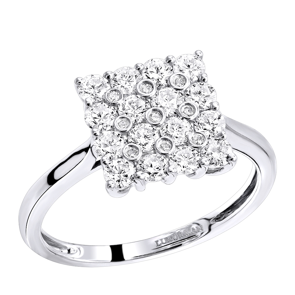 Affordable 1ct Diamond Engagement Ring 3 Carat Look 14k Gold by Luxurman