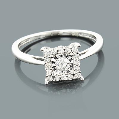 Affordable Diamond Engagement Ring 10K 1 Carat Look