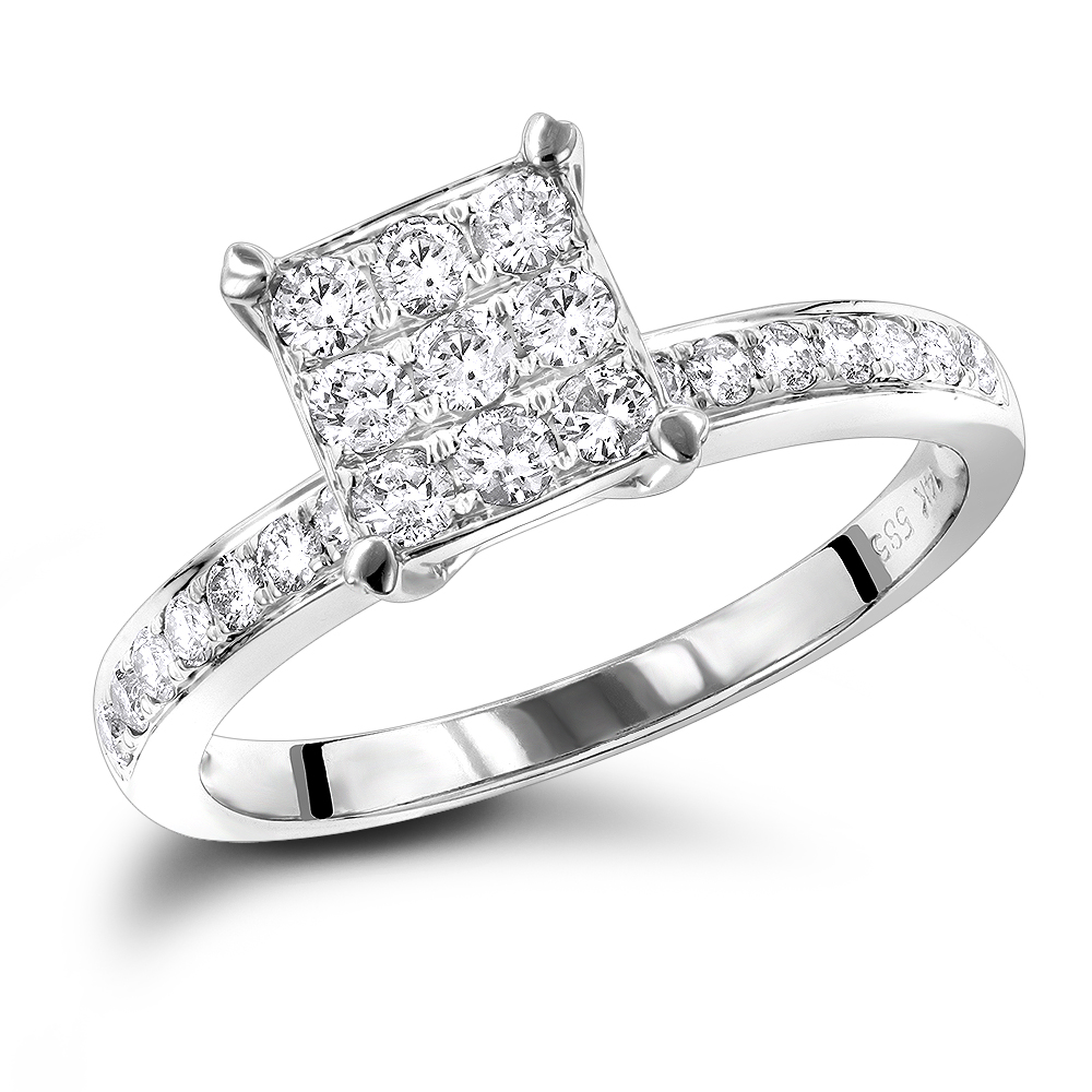 Affordable Diamond Engagement Rings 0.5 Carat Promise Ring ...