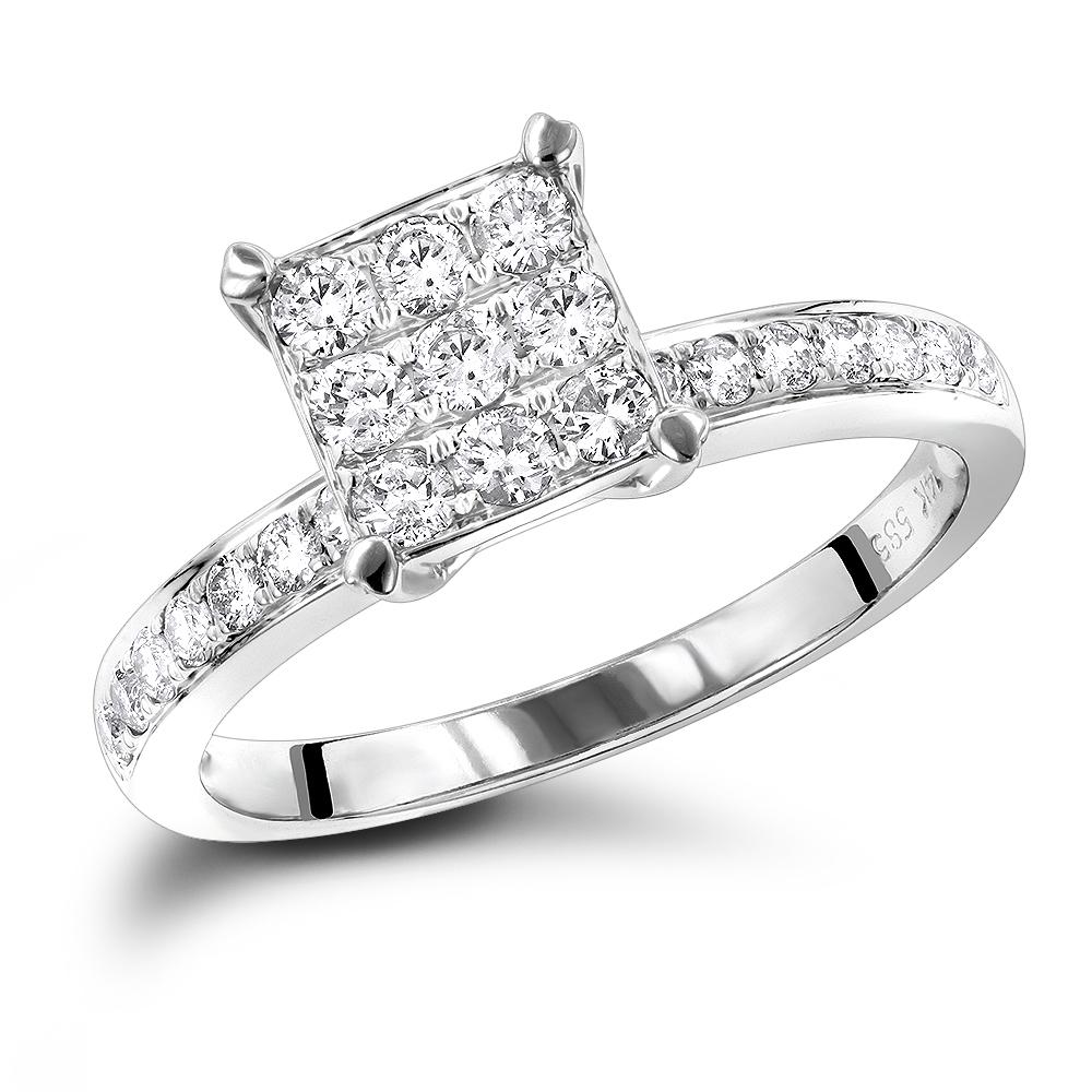 Affordable Diamond Engagement Rings 0.5 Carat Promise Ring for Women
