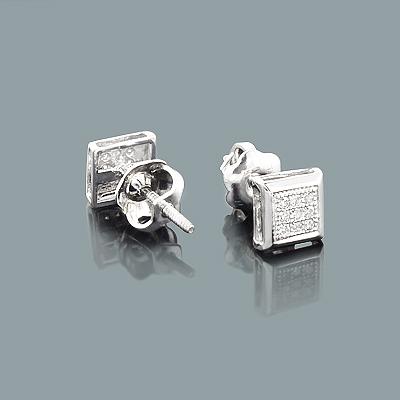 Affordable Diamond Studs 10K Small Diamond Earrings .07