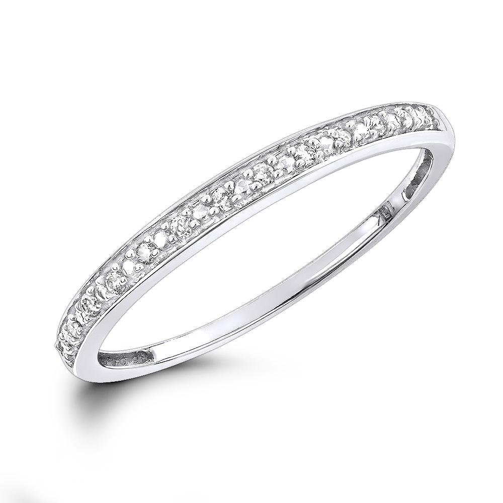 Affordable Diamond Wedding Bands For Women: Stackable Diamond Ring 10k Gold