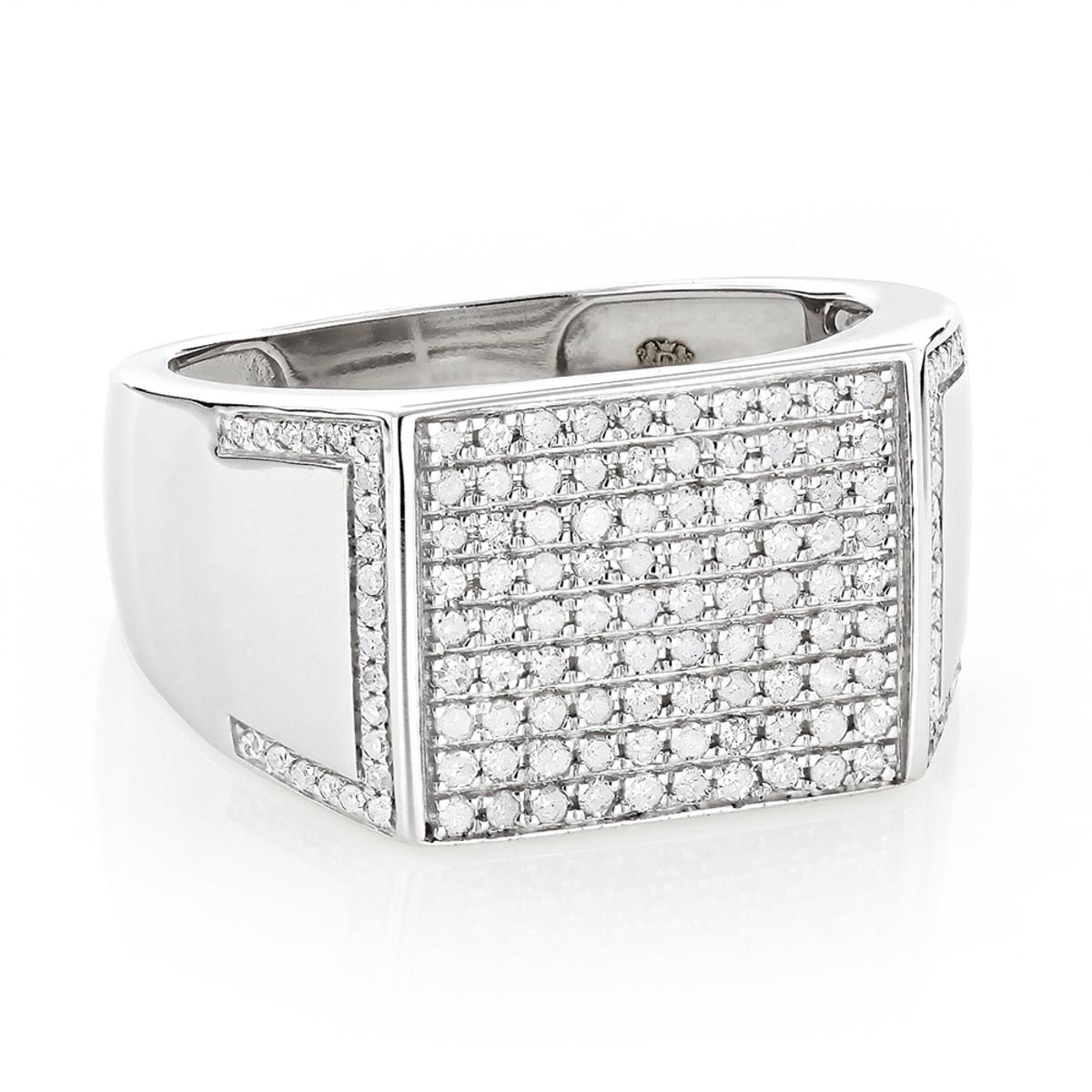 Affordable Mens Rings 10K Gold Mens Diamond Ring 2/3ct