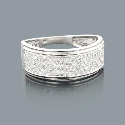 Affordable Mens Wedding Bands: 10K Gold Diamond Ring 0.50ct