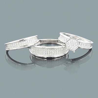 Affordable Trio Diamond Ring Set 0.62ct 10K