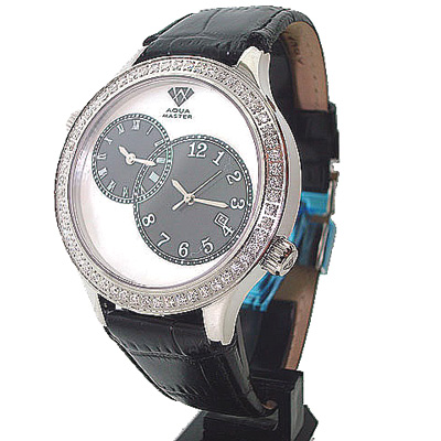 Aqua Master Diamond Watch 2 Time Zone Watch 2.45ct