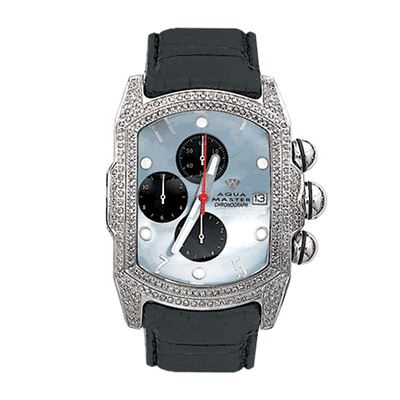 Aqua Master Diamond Watches Mens Bubble Watch 2.50ct