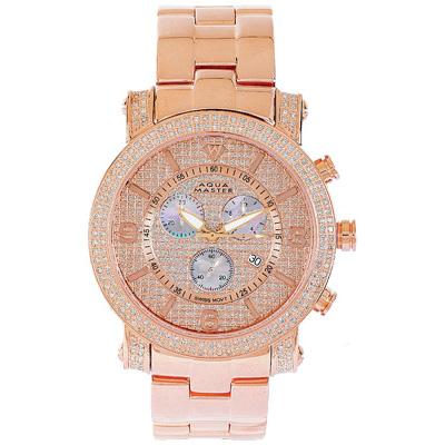 Aqua Master Diamond Watches Mens Wrist Watch 2.25ct