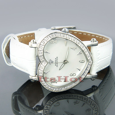 Aqua Master Ladies Watches Diamond Heart Watch 0.50ct