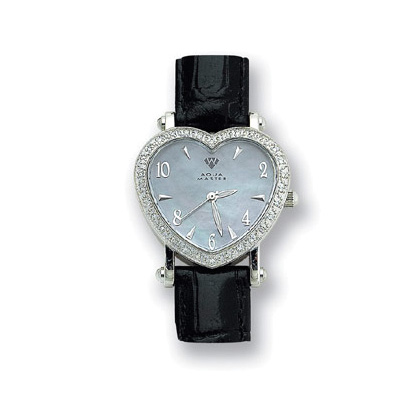 Aqua Master Watches Diamond Heart Shaped Watch 0.50ct