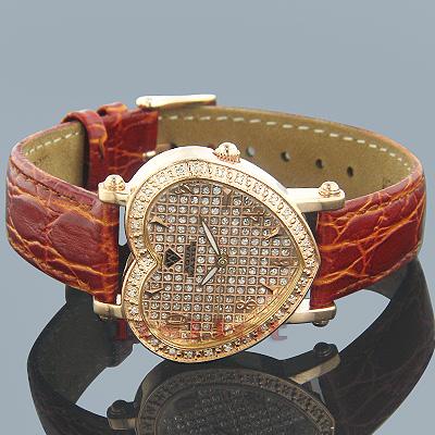 Aqua Master Watches Diamond Heart Shaped Watch 0.50ct