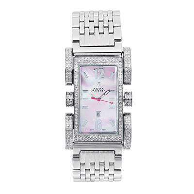 Aqua Master Watches Diamond Ladies Watch 2.75ct Flex