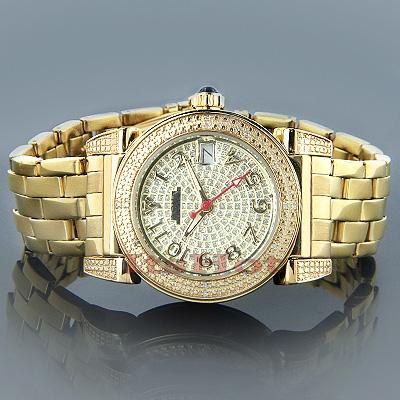 Aqua Master Watches Ladies Diamond Watch Round Yellow