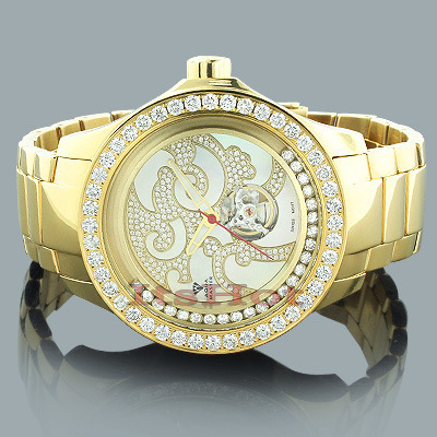 Aqua Master Watches: Mechanical Mens Diamond Watch 7.50ct