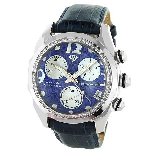 Aqua Master Watches Mens Diamond Bubble Watch 0.75ct