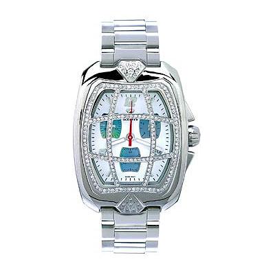 Aqua Master Watches Mens Diamond Grille Watch 2.00ct
