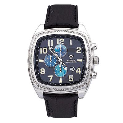 Aqua Master Watches Mens Diamond Watch 1.25ct Blue