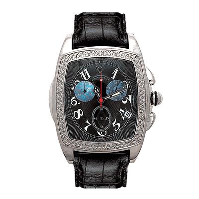 Aqua Master Watches Mens Diamond Watch 1.50ct Black