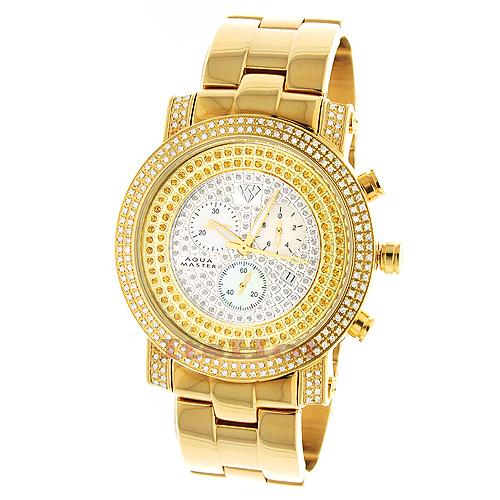 Aqua Master Watches! Mens Diamond Watch 2.25ct