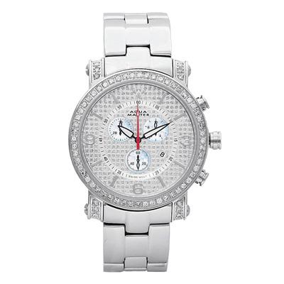 Aqua Master Watches Mens Diamond Watch 2.60ct