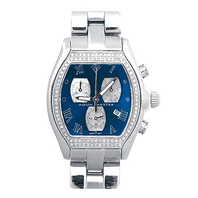 Aqua Master Watches Mens Diamond Watch AquaMaster 1.25