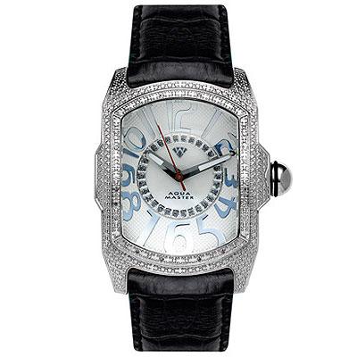 Aqua Master Watches Mens Diamond Watch Crazy Numbers