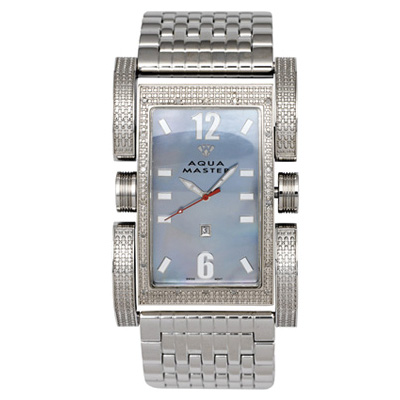 Aqua Master Watches Mens Diamond Watch Flex Bicycle