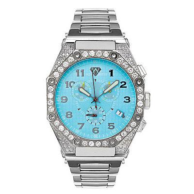 Aqua Master Watches Mens Diamond Watch Octagon 4.50ct