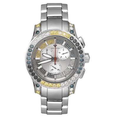 Aqua Master Watches Mens Fancy Color Diamond Watch 8ct