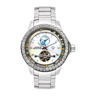 Aqua Master Watches Mens Floating Diamond Watch 5.75ct