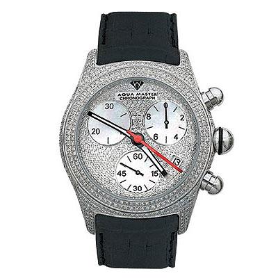 Aqua Master Watches Mens Fully Paved Diamond Watch 7.5