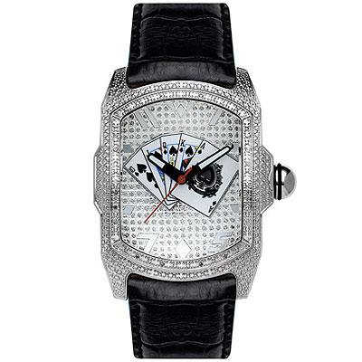 Aqua Master Watches Poker Dial Bubble Diamond Watch