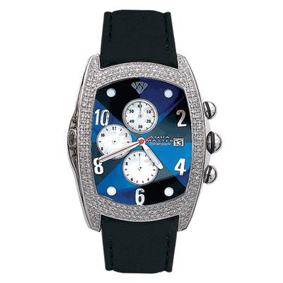 Aqua Master Watches Unisex Diamond Watch 2.50ct Blue