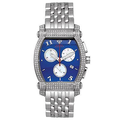 Aqua Master Watches Unisex Real Diamond Watch 2.50ct