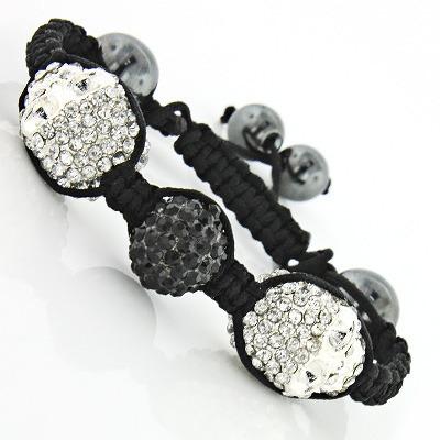 Beaded Disco Ball Jewelry: Crystal Skull Bracelet