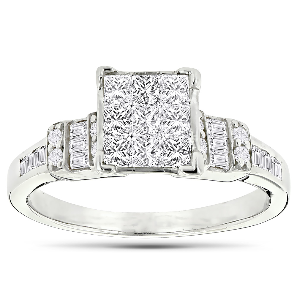 Beautiful 14K Gold Diamond Engagement Ring 0.95ct