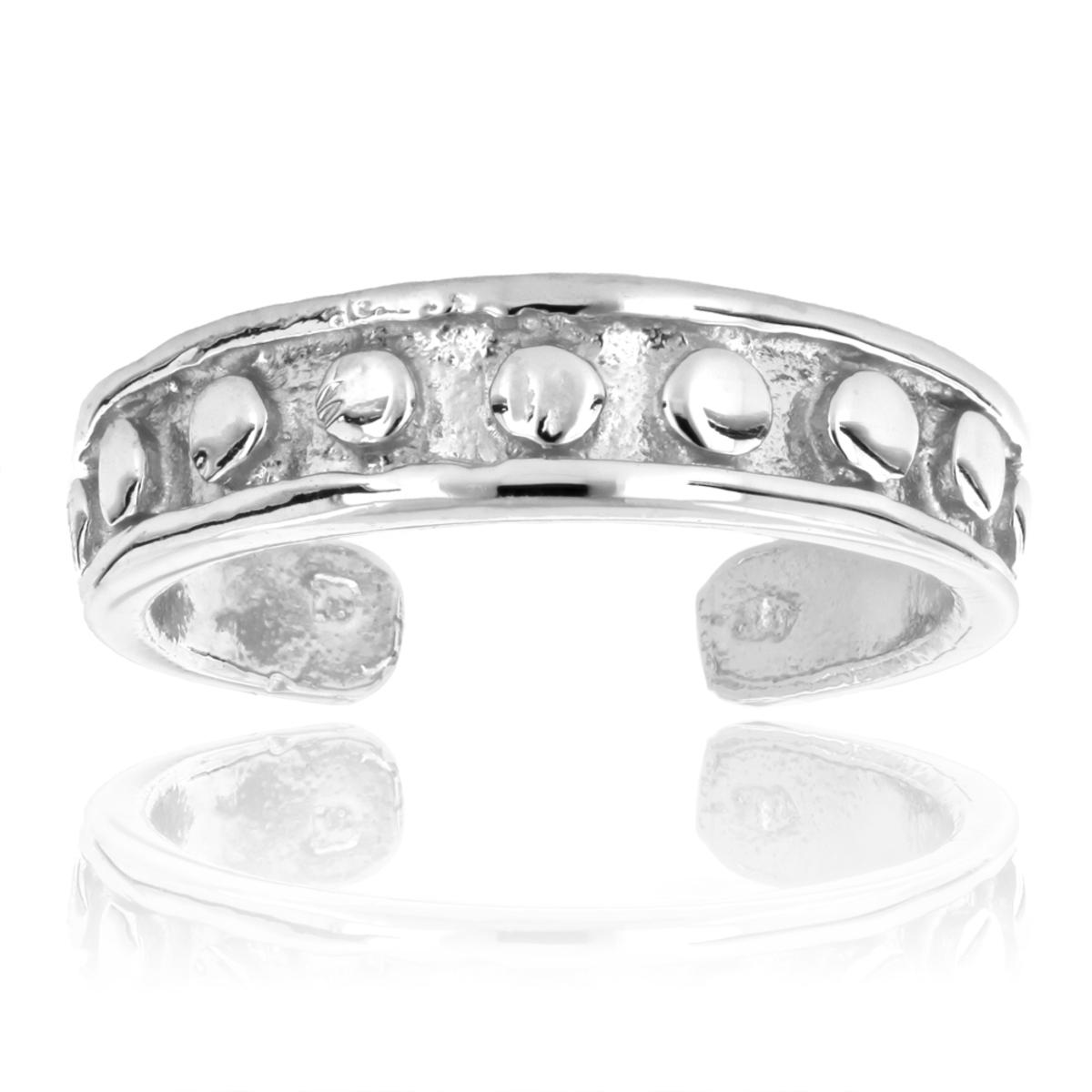 Thin Beautiful Toe Rings Adjustable 14K Solid Gold Toe Ring