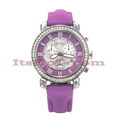 Benny and Co Watch Diamond Womens Watch 1.5ct Lavender