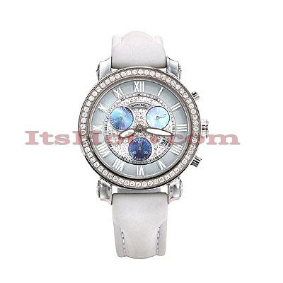 Benny Co Womens Diamond Watch 1.5ct White