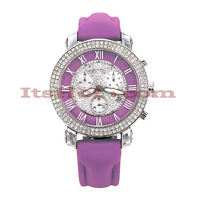 Benny Co Womens Diamond Watch 1.9ct Lavender