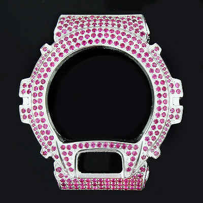 Berry Color Crystal G-Shock Bezel
