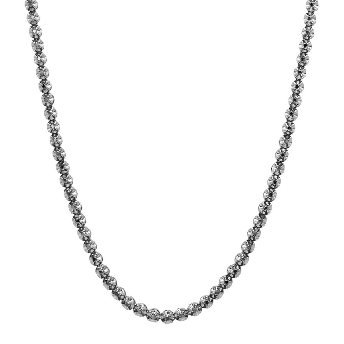 Black Diamond Jewelry 10K Eternity Diamond Necklace 9ct