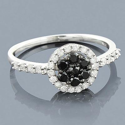 Black Diamond Promise Ring 14K 0.52ct