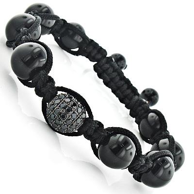 Black Disco Ball Bracelet Style Jewelry Piece