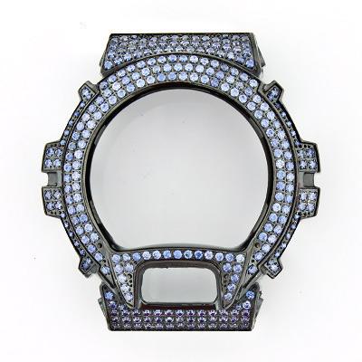 Black G-Shock Bezel with Blue Crystals