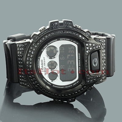 Black G-Shock Watches: CZ Crystal Watch 4ct