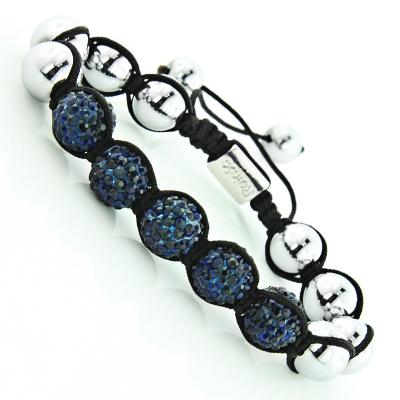 Blue Crystal Jewelry - Beaded Disco Ball Bracelet