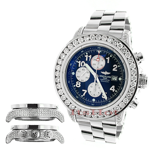 Breitling Aeromarine Super Avenger Diamond Watch 14.12ct