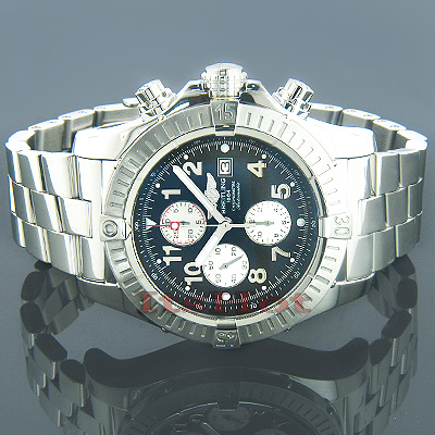 Breitling Aeromarine Super Avenger Steel Black Watch